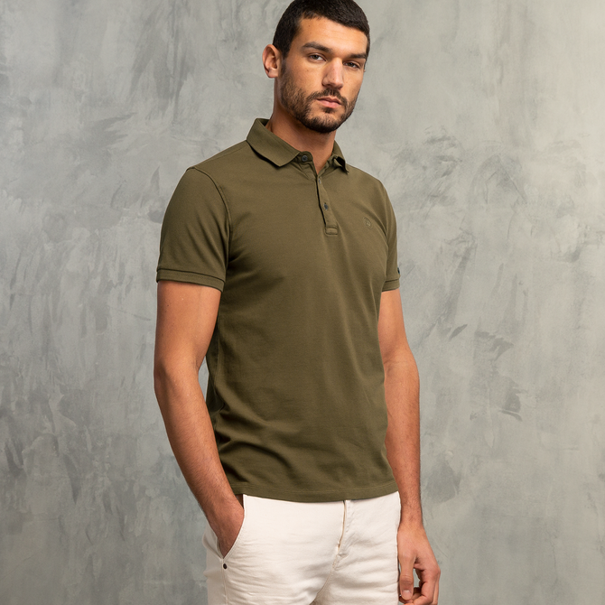 Light Pique Stretch Washed Polo