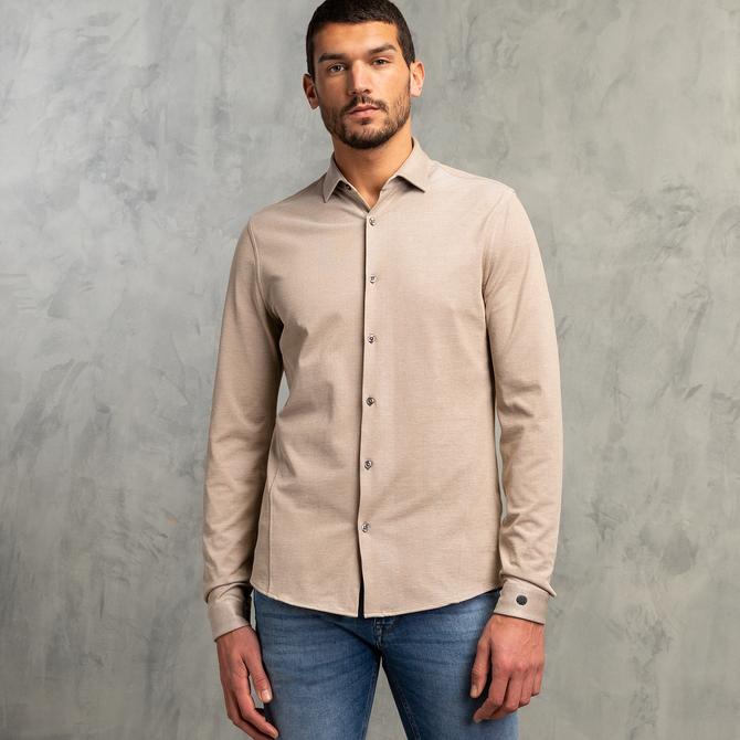 Jersey Pique Oxford Overhemd